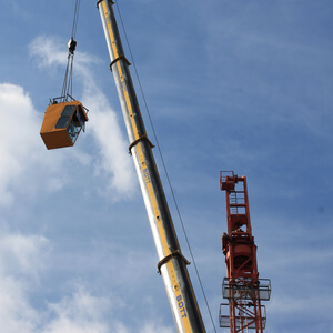 The crane was dismantled bit by bit…